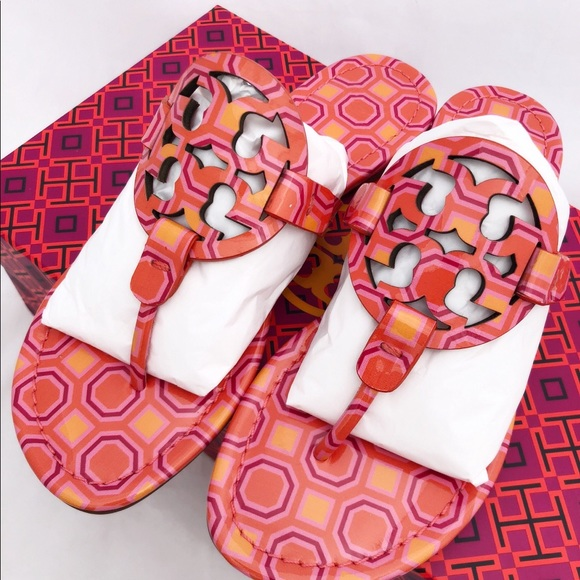 127f14fbf196d Tory Burch Miller Sandals Flip Flop Vivid Orange